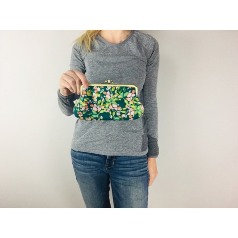 Jackie purse - Green floralia