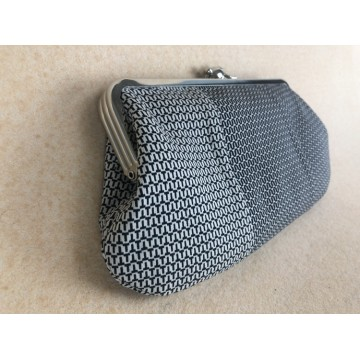 Chloe convertible - Black and white woven made from a dress (geometric lining)