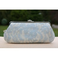 Chloe purse - Vintage baby blue lace