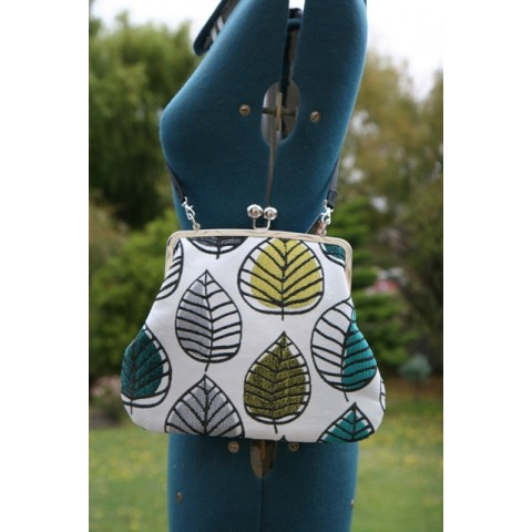 Hepburn bag - Green & yellow leaves