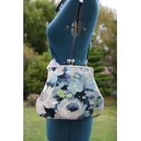 Hepburn bag - Blue watercolour