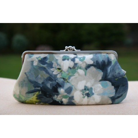 Chloe purse - Blue watercolour