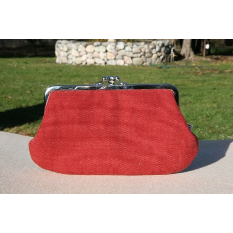 Jackie purse - Dull red