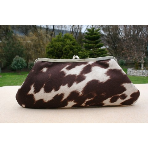 Isabella carry-all clutch - Faux cow hide