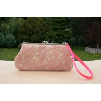 Chloe convertible - Baby pink lace