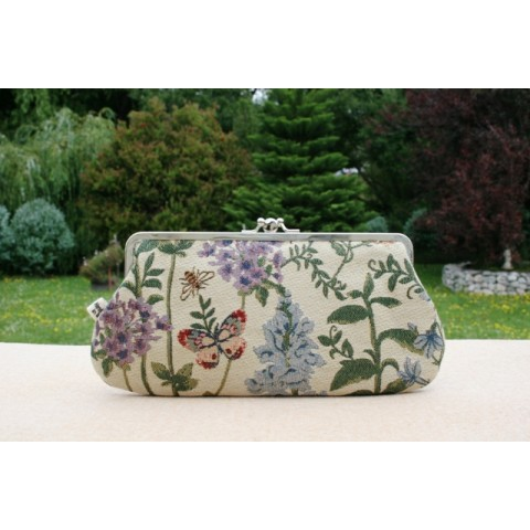 Chloe purse -  Ladybirds and floral tapestry