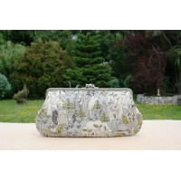 Chloe purse -  Grey forest friends