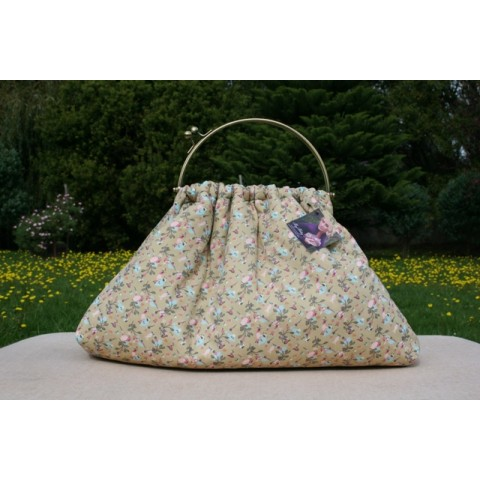 Budleigh bag - Beige with tiny floral