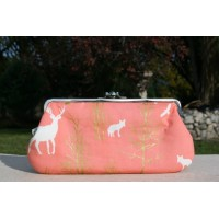 Chloe purse - Peach stags