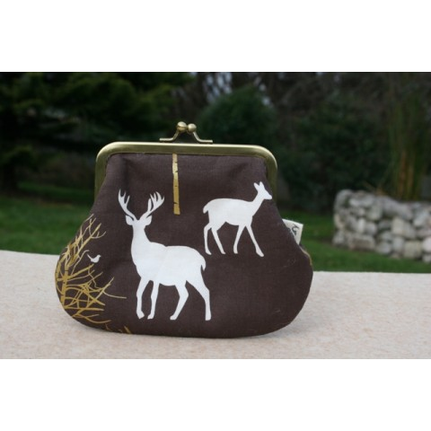 Grace purse - Brown stag