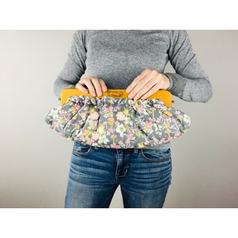 Willow Clutch - Floral dusk