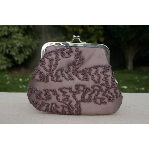 Grace purse - Curly embroidery