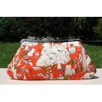Isabella carry-all clutch - Orange forest friends