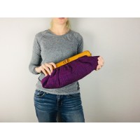 Willow Clutch - Purple slubby