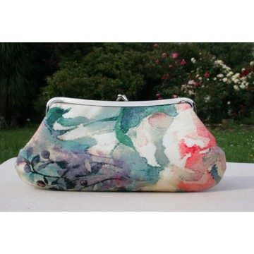 Isabella carry-all clutch - Linen orchid