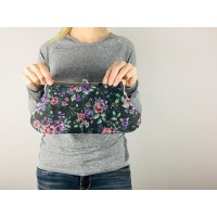 Isabella carry-all clutch - Faux floral tapestry